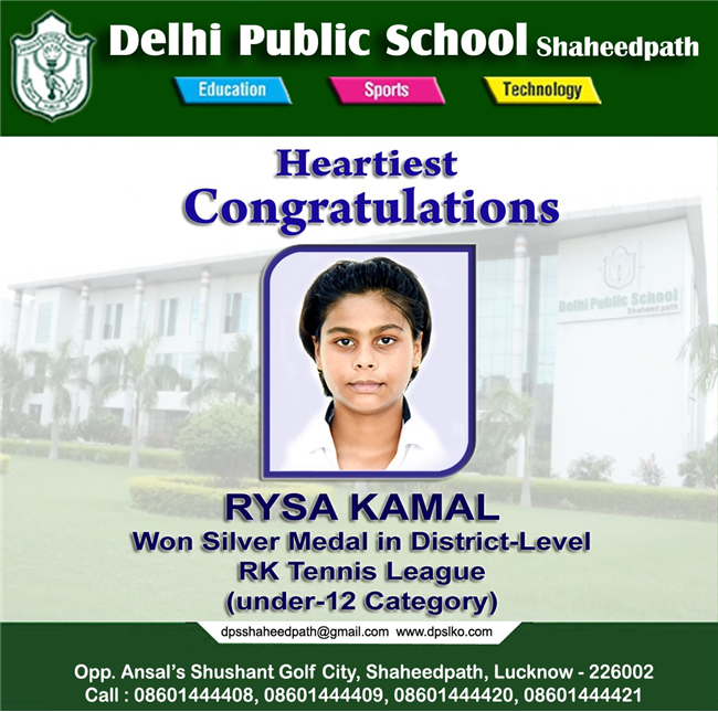 We are proud to share achievement of Master VishwaKirty Rai and Miss Rysa Kamal