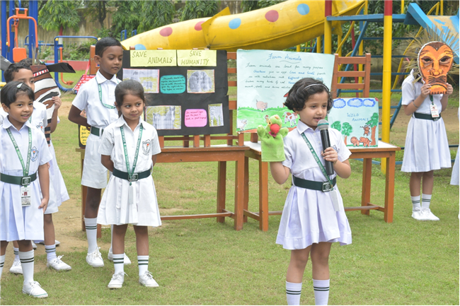"Class Prep of DPS Ranchi performed an activity on ""Save Animals, Save Nature"""