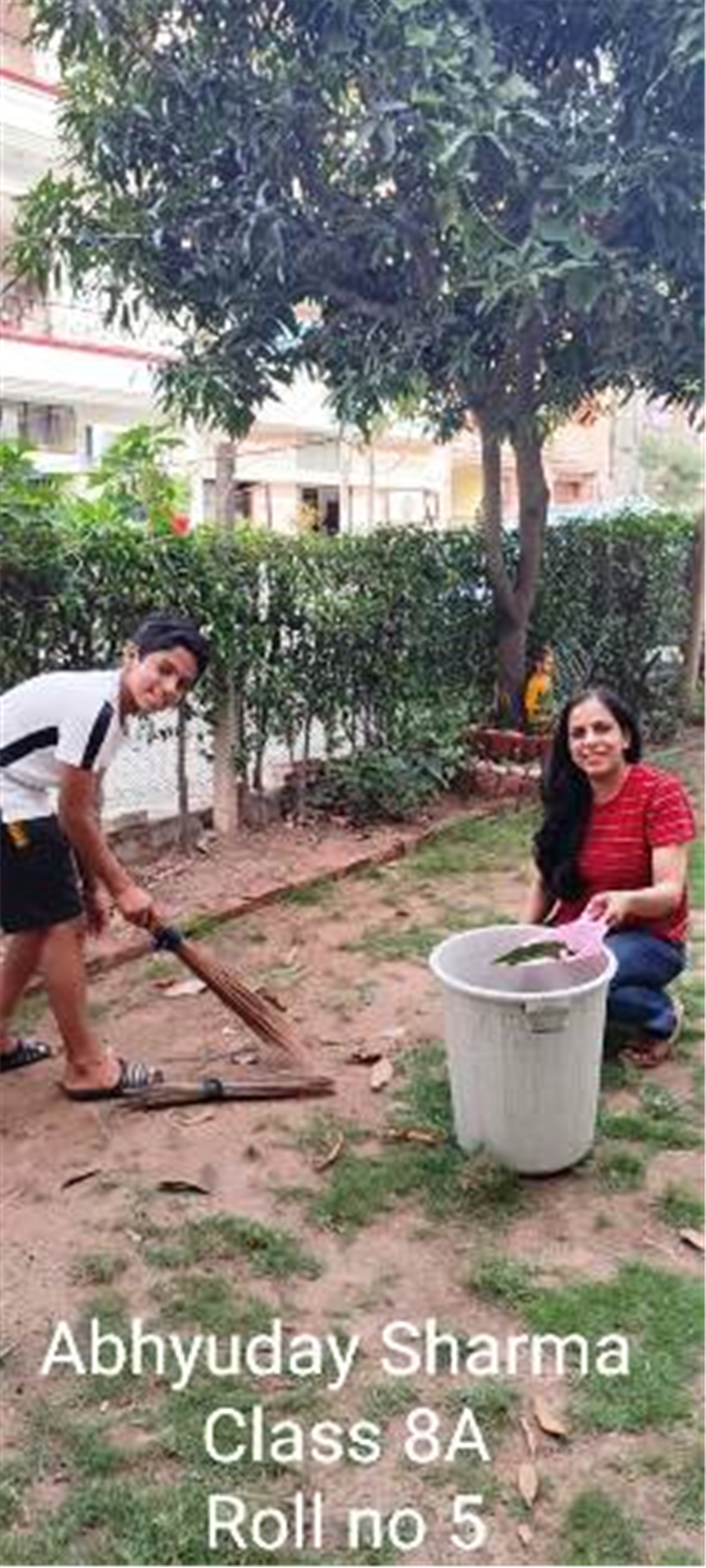 Good Deeds by Class 8 Students.